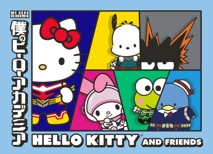 my hero academia hello kitty and friends