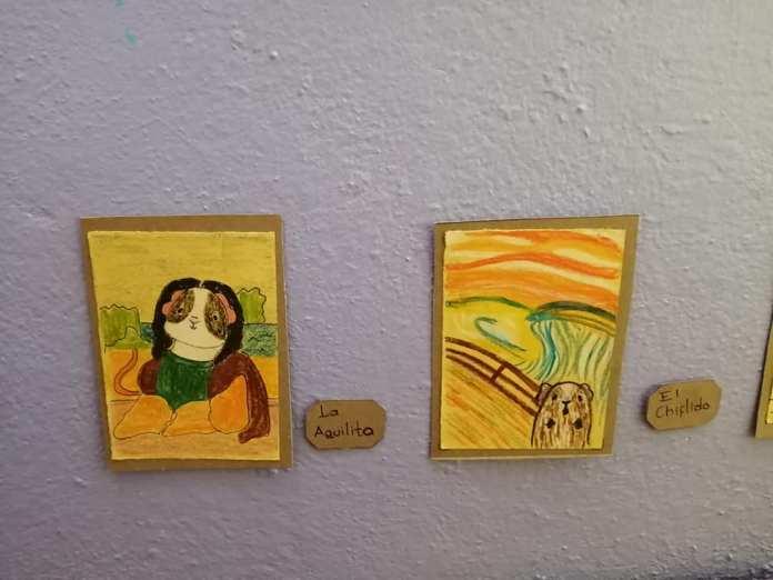 Exposición temporal Cui 20: una usuaria de Facebook recrea pinturas icónicas para sus cuyos 2
