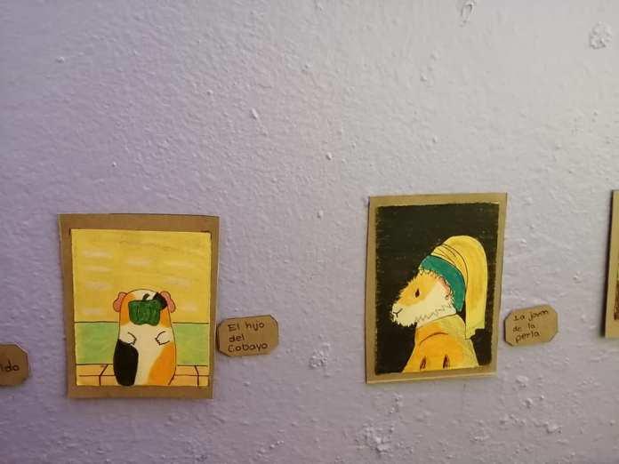 Exposición temporal Cui 20: una usuaria de Facebook recrea pinturas icónicas para sus cuyos 5