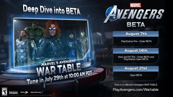 Marvel's Avengers war table 2