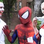 harley quinn y spiderman halloween 2020