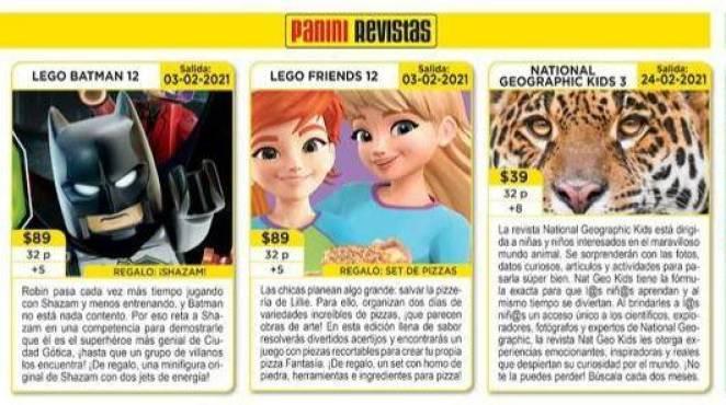 Panini Revistas Febrero 2021