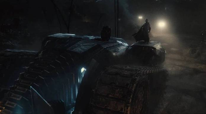 Zack Snyder Justice League, Snyder Cut. Batimovil, Batmobile