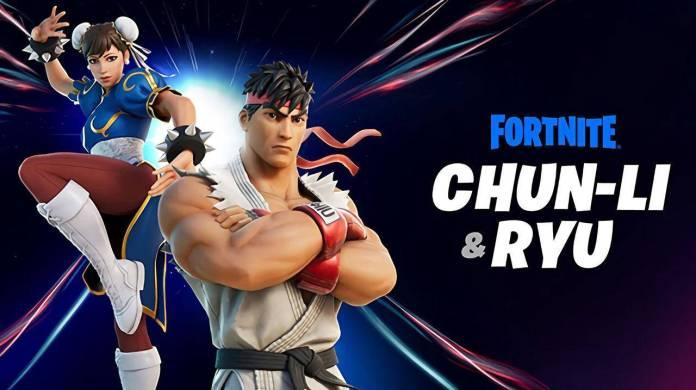 fortnite street fighter ryu chun-li