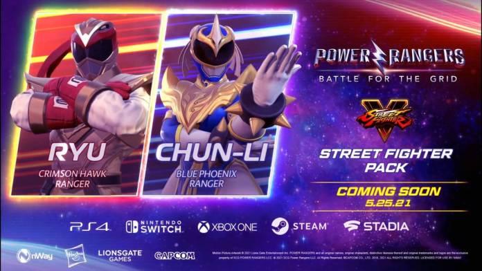 Power Rangers: Battle For The Grid – Crossover con Street Fighter revela a Ryu con el traje de Angel Grove. 1