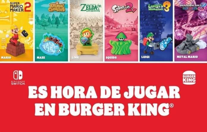 Burger King México anuncia colaboración con Nintendo para traer juguetes inspirados en sus mas grandes franquicias!