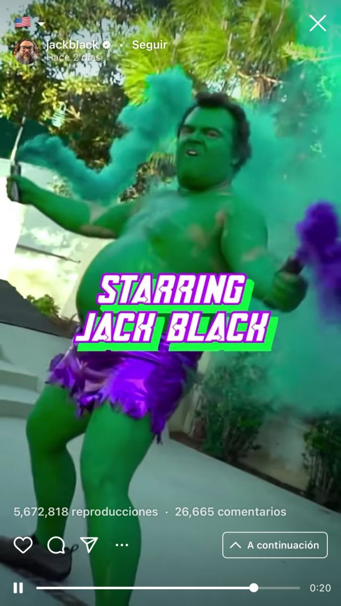 Jack Black se transforma en Los Vengadores en divertido video viral 3