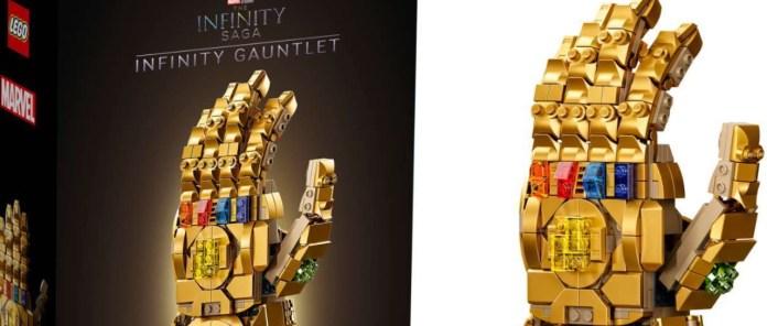 Lego anuncia oficialmente el set de construcción del guantelete del infinito de Thanos de la saga de películas de los vengadores.