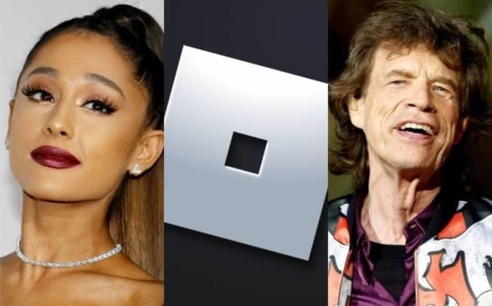 Roblox, Ariana Grande, The Rolling Stones