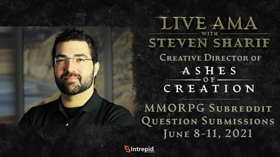 Ashes of Creation: Director Creativo, Steven Sharif, participará en AMA el 13 de junio 1