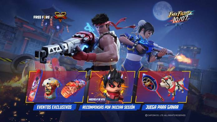 La colaboración entre Free Fire y Street Fighter V llegará a su fin este 10 de Julio.