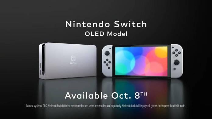 Nintendo Switch OLED Model, asi es el nuevo modelo con una mejor pantalla y mas memoria interna.