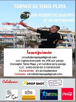 Torneo de TENIS PLAYA-Puerto de Sagunto