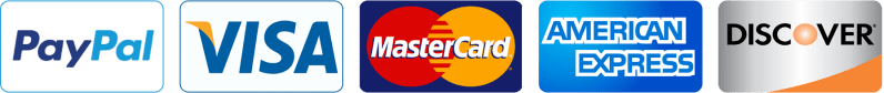 PayPal Visa Master Card American Express Discover Payment Options