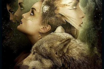 mujer con lobo 1