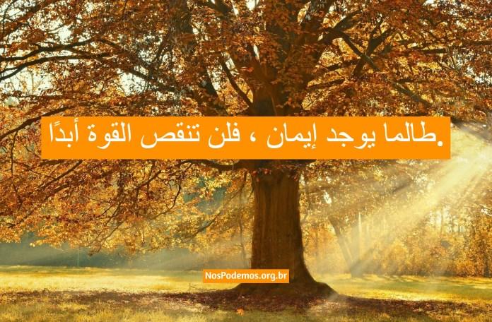 طالما يوجد إيمان ، فلن تنقص القوة أبدًا.