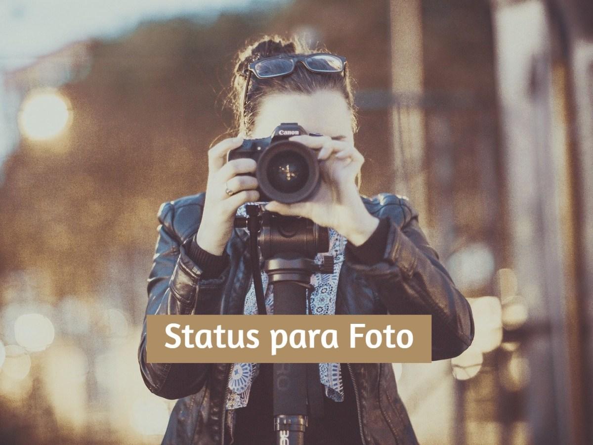 Status para foto