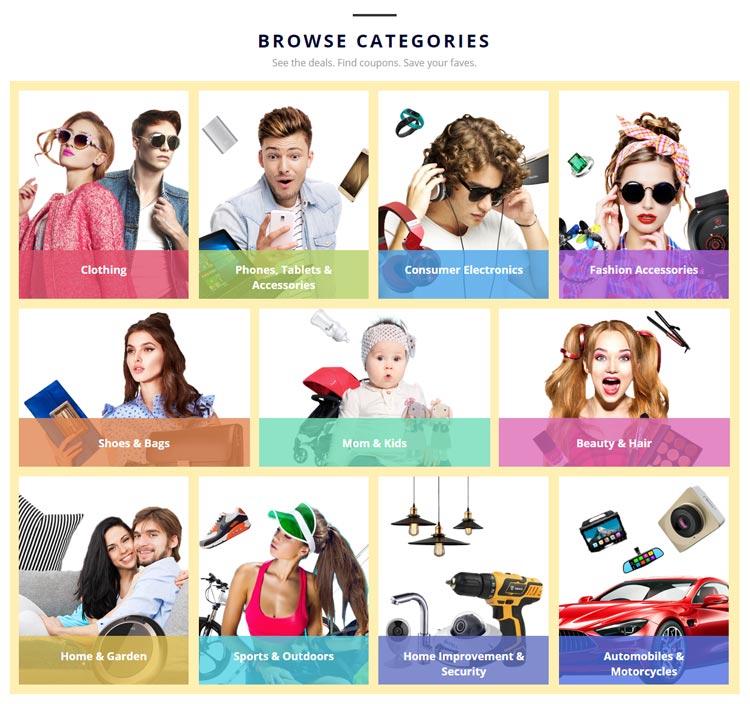 Wybrane promowane kategorie Festiwalu Zakupów AliExpress 2016