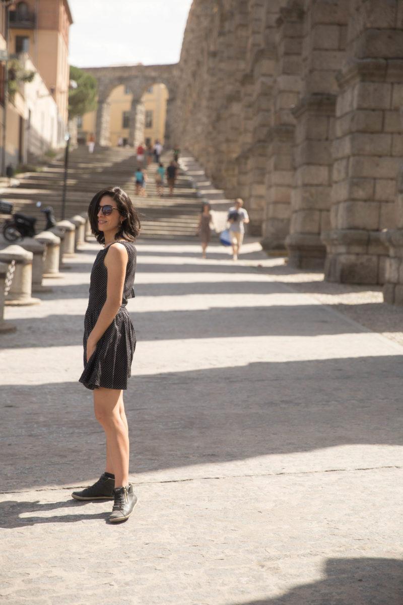Aqueduto romano Segovia Espanha