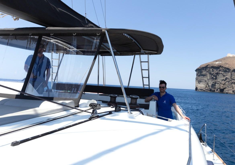 Passeio de barco Santorini