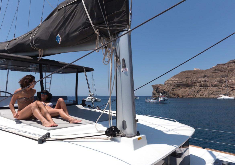 O que fazer passeio de barco Santorini