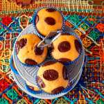 Muffin de cenoura com chocolate