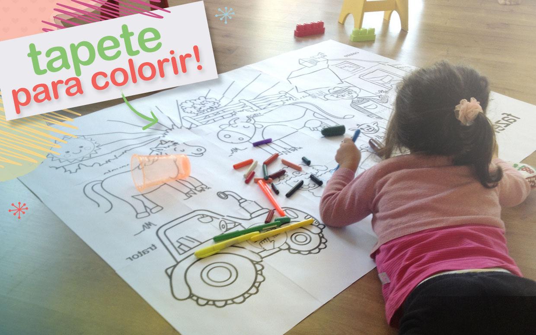 Estimular é um barato » Tapete para colorir!