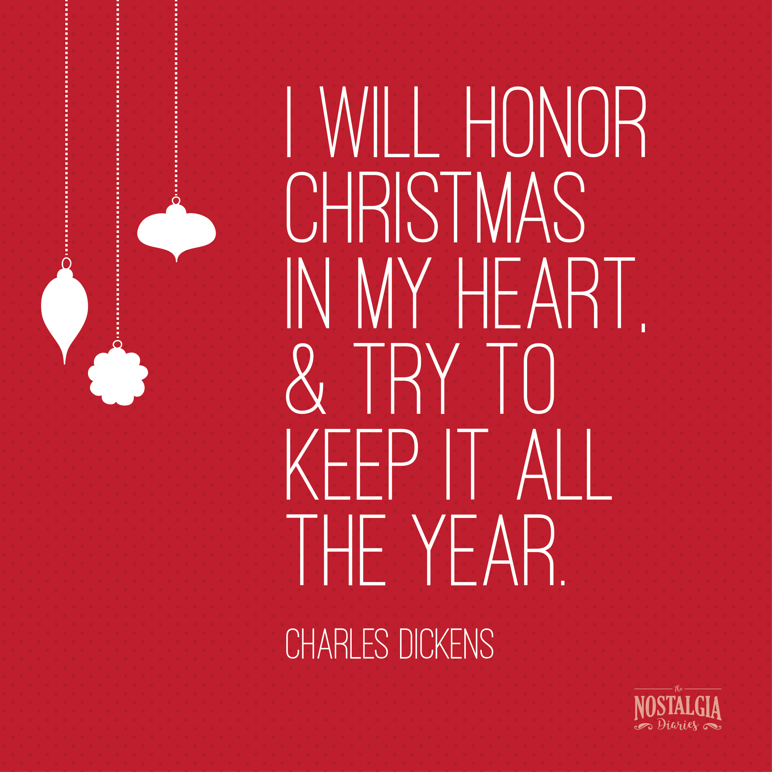 Charles Dickens. Holiday Quotes 10
