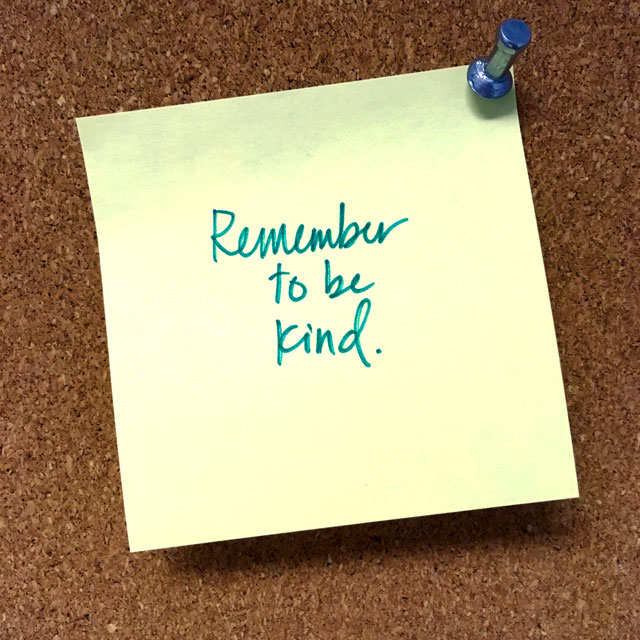 Remember to Be Kind | The Nostalgia Diaries Blog