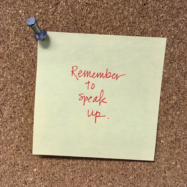 Remember Reminder #11: Speak Up | The Nostalgia Diaries Blog