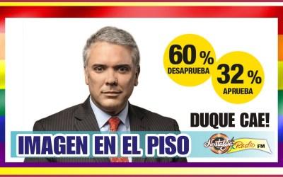 CAE LA IMAGEN DE DUQUE…COLOMBIANOS PESIMISTAS CON ESTE PRESIDENTE