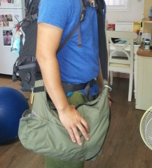 Me wearing the bag