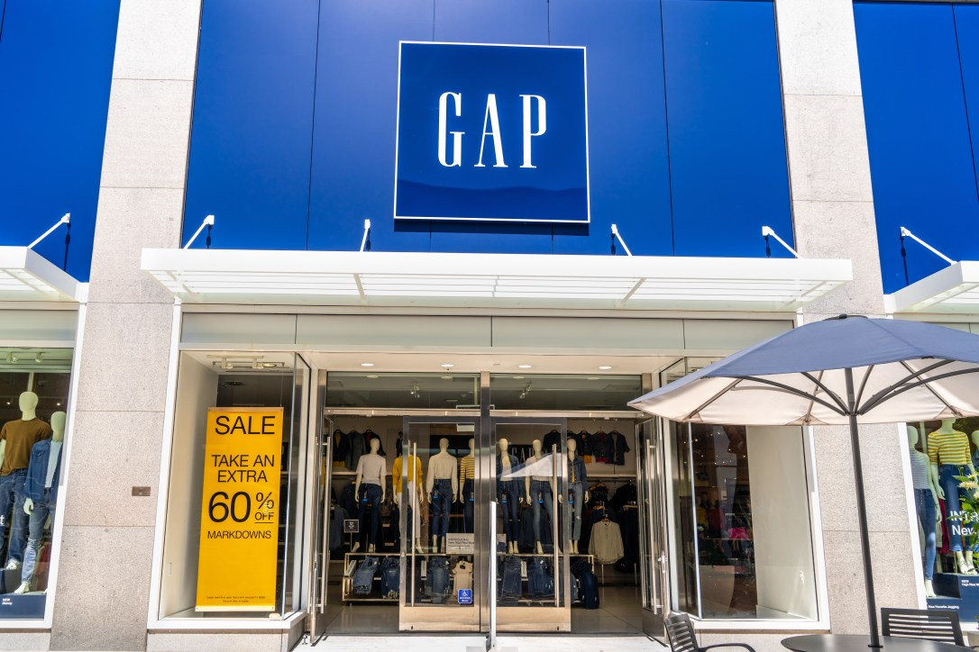 August 20, 2019 Palo Alto / CA / USA - Gap store in Stanford Shopping Center in San Francisco bay area