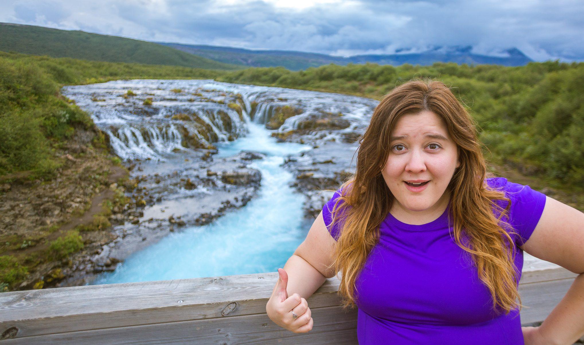 Iceland Brúarfoss Falls