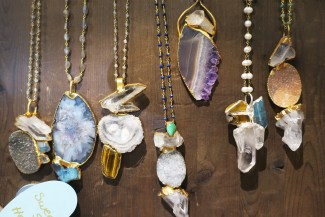 Necklaces with minerals