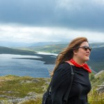 Juliette walks up the mountain to see the Old Man Storr