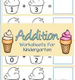 Free Ice Cream Addition Worksheets For Kindergarten [ 1500 x 1000 Pixel ]