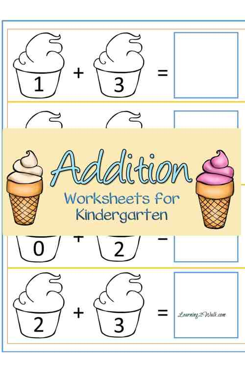 small resolution of Free Ice Cream Addition Worksheets For Kindergarten
