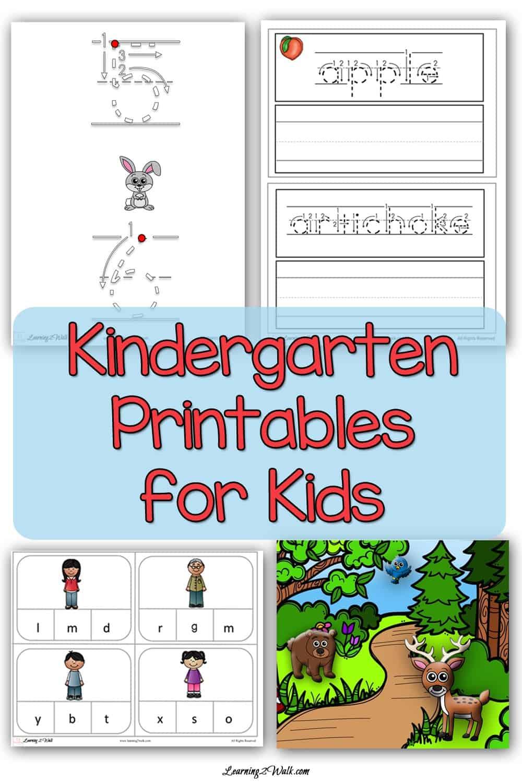hight resolution of Kindergarten Worksheets For Kids