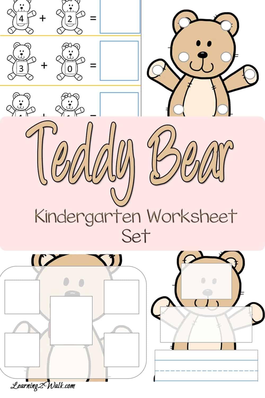 hight resolution of Teddy Bear Kindergarten Worksheet Set