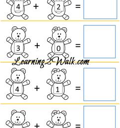 Teddy Bear Kindergarten Worksheet Set [ 1309 x 1000 Pixel ]