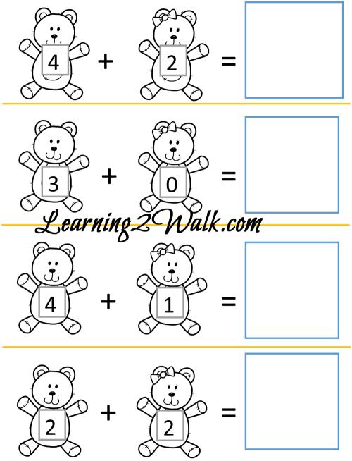 small resolution of Teddy Bear Kindergarten Worksheet Set
