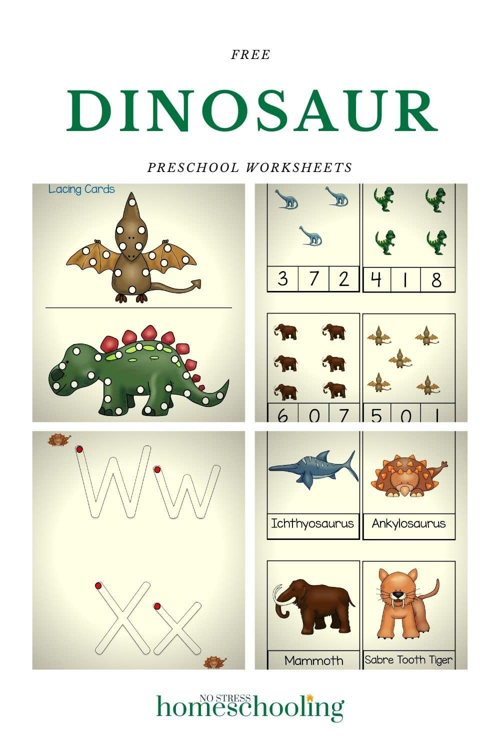 medium resolution of Adorable Dinosaur Preschool Worksheets For Your Kids To Use