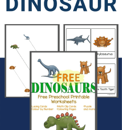 Adorable Dinosaur Preschool Worksheets For Your Kids To Use [ 1500 x 1000 Pixel ]