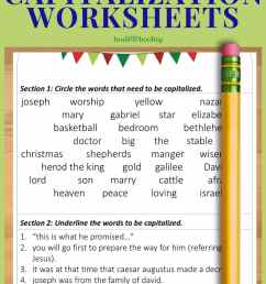 Free Christmas Capitalization Worksheets [ 1500 x 1000 Pixel ]