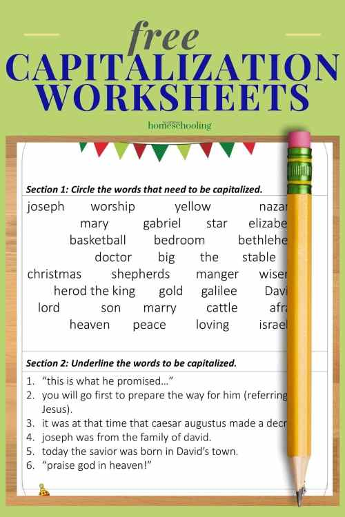 small resolution of Free Christmas Capitalization Worksheets