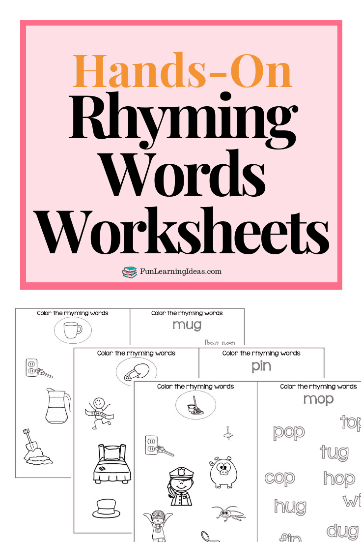 hight resolution of Color The Rhyme- Hands On Free Rhyming Words Worksheets