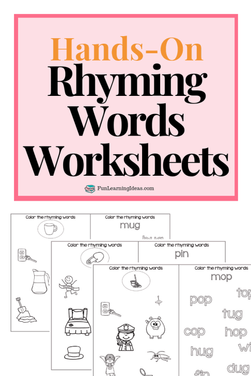 small resolution of Color The Rhyme- Hands On Free Rhyming Words Worksheets
