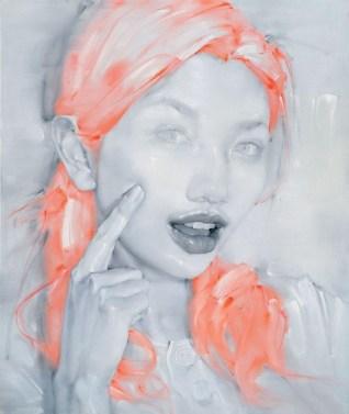Lip Language n°16, huile sur toile, 180x150cm, 2008