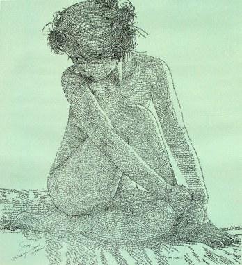 Stop Thinking - Good Night, sérigraphie sur papier de riz, 98x130cm, 2008